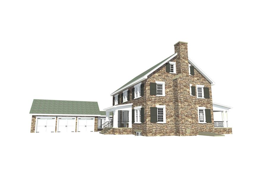 Home Plan Right Elevation of this 4-Bedroom,3722 Sq Ft Plan -116-1090