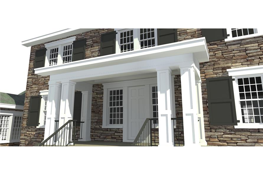 Front Door of this 4-Bedroom,3722 Sq Ft Plan -3722