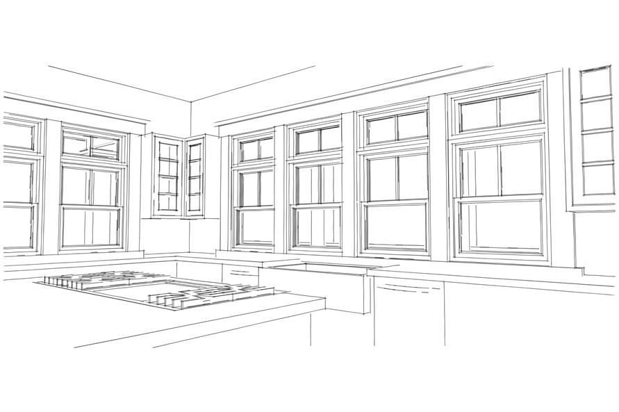 116-1092: Home Plan Rendering-Kitchen