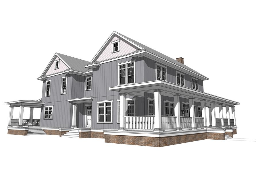 116-1092: Home Plan Left Elevation