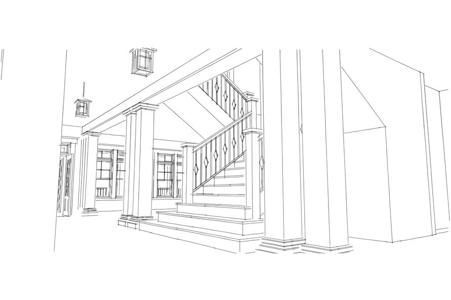 Entry Hall: Staircase of this 5-Bedroom,4742 Sq Ft Plan -4742