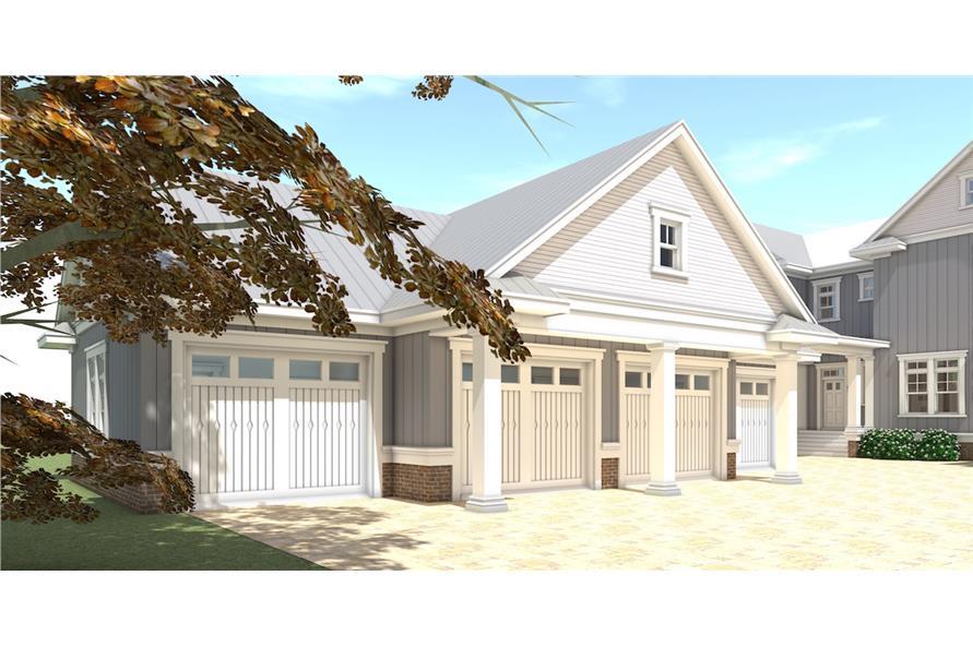116-1092: Home Plan 3D Image-Garage