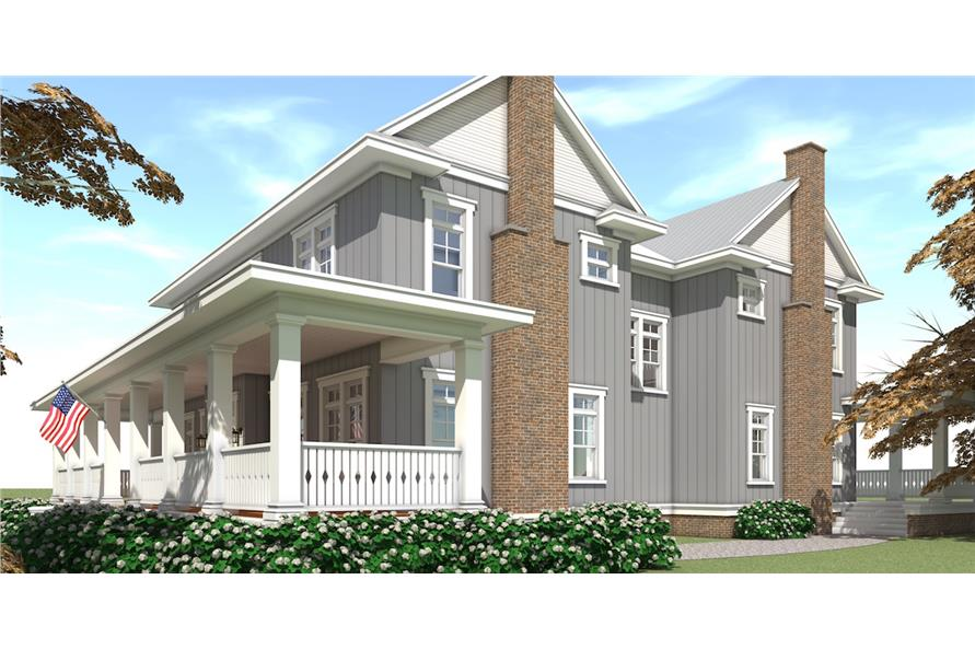 Home Plan Right Elevation of this 5-Bedroom,4742 Sq Ft Plan -116-1092