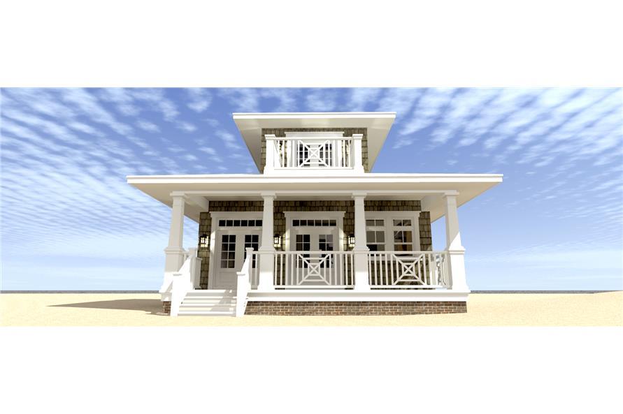 116-1093: Home Plan Rear Elevation