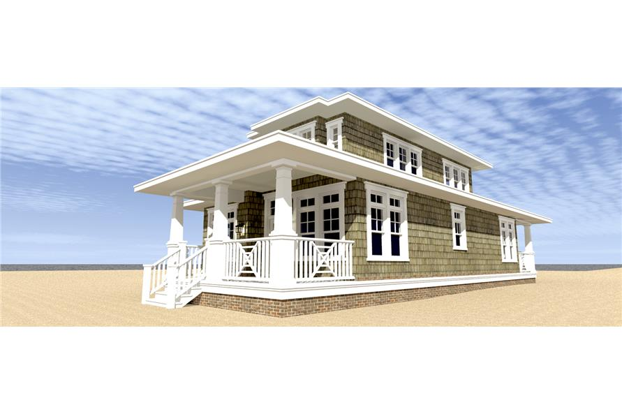 116-1093: Home Plan Right Elevation