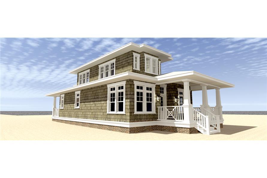 116-1093: Home Plan Left Elevation