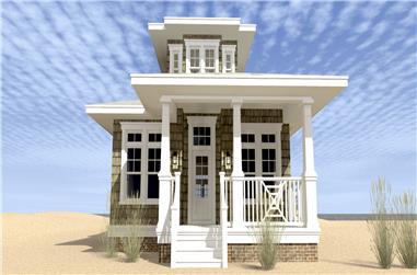 3-Bedroom, 1581 Sq Ft Coastal Home Plan - 116-1093 - Main Exterior
