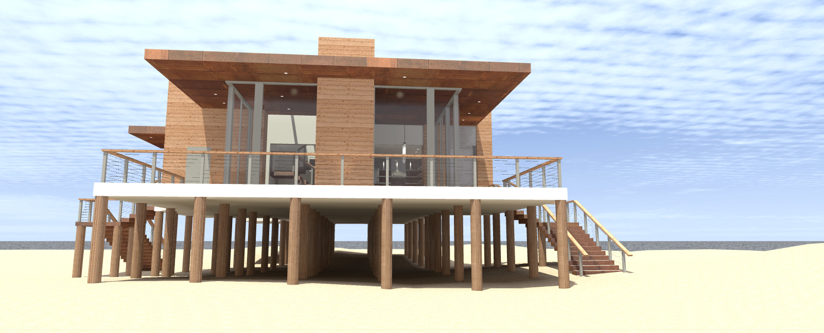 Beachfront coastal house plan 116 1094 4 bed 2490 sq for Beachfront home plans