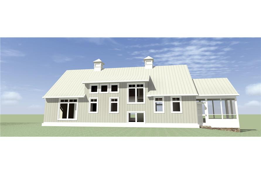 116-1095: Home Plan Rear Elevation