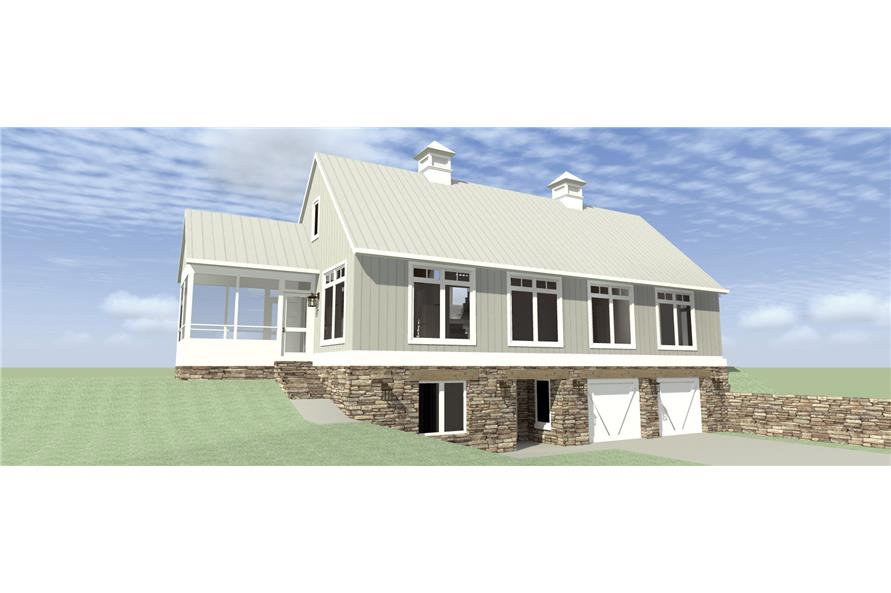 Front elevation of Modern home (ThePlanCollection: House Plan #116-1095)