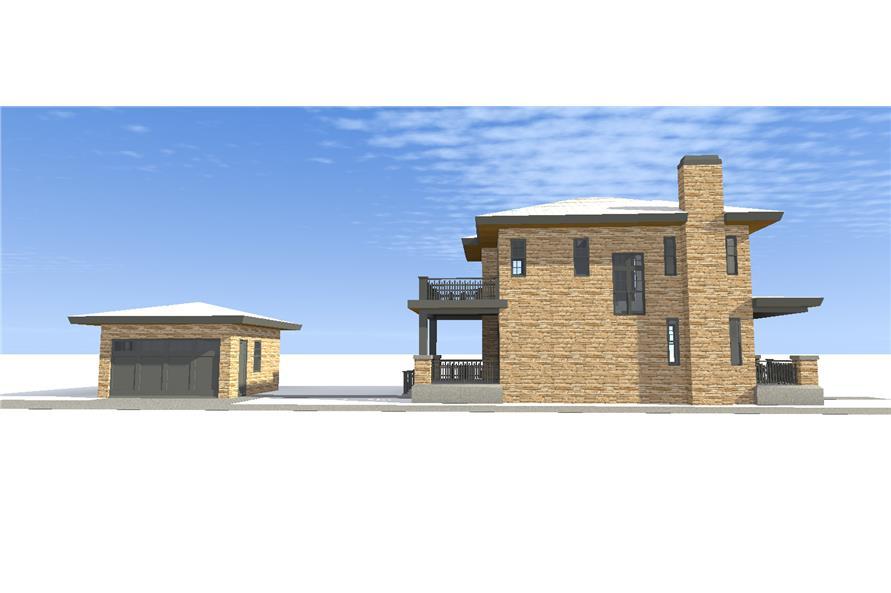 116-1096: Home Plan Left Elevation