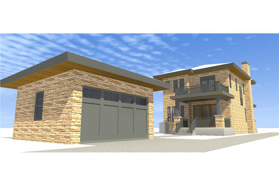 116-1096: Home Plan Rear Elevation