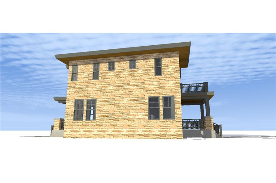 116-1096: Home Plan Right Elevation
