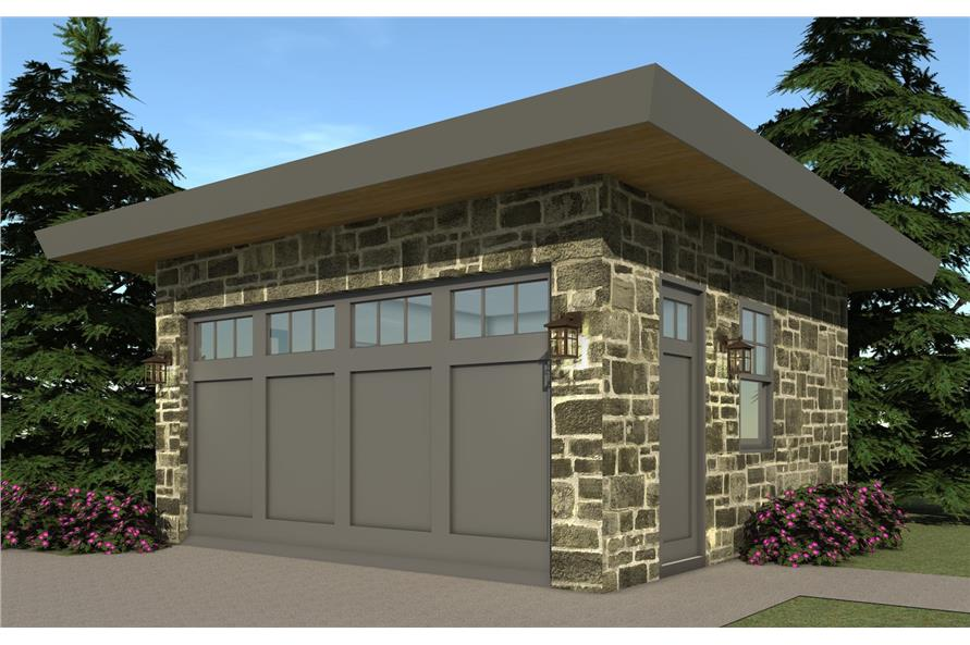116-1096: Home Plan 3D Image-Garage