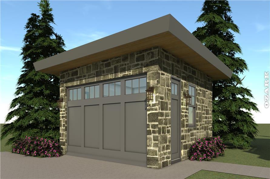 116-1096: Home Plan Rendering-Garage