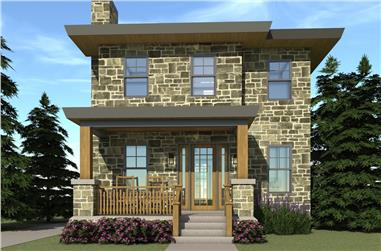 3-Bedroom, 1586 Sq Ft Country House Plan - 116-1096 - Front Exterior