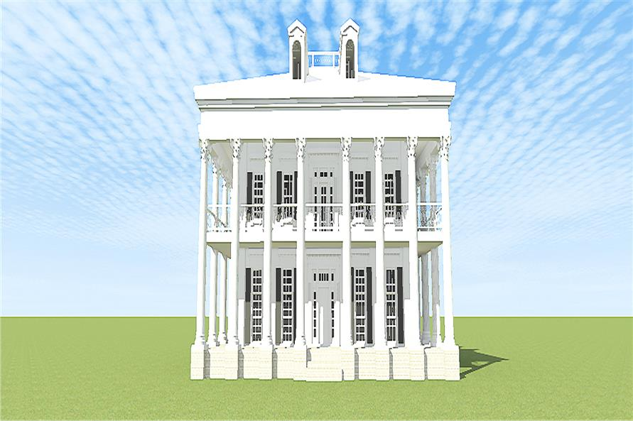 Front elevation of Traditional home (ThePlanCollection: House Plan #116-1097)