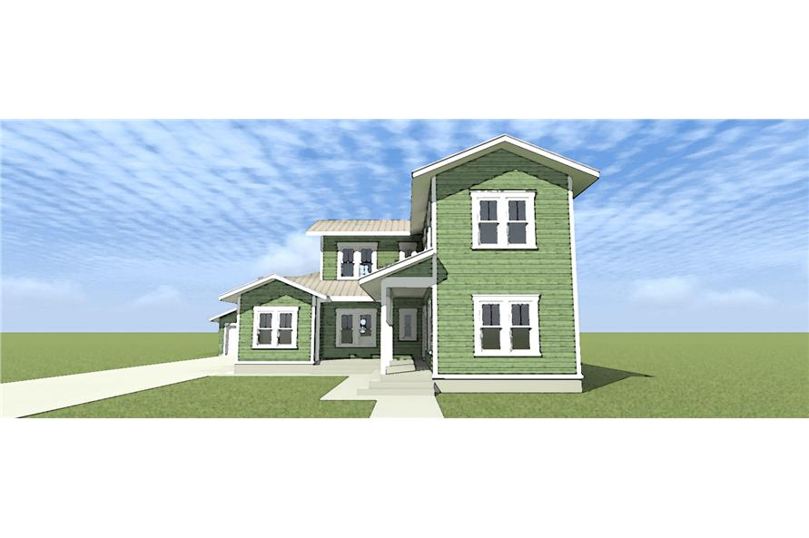 116-1098: Home Plan Front Elevation