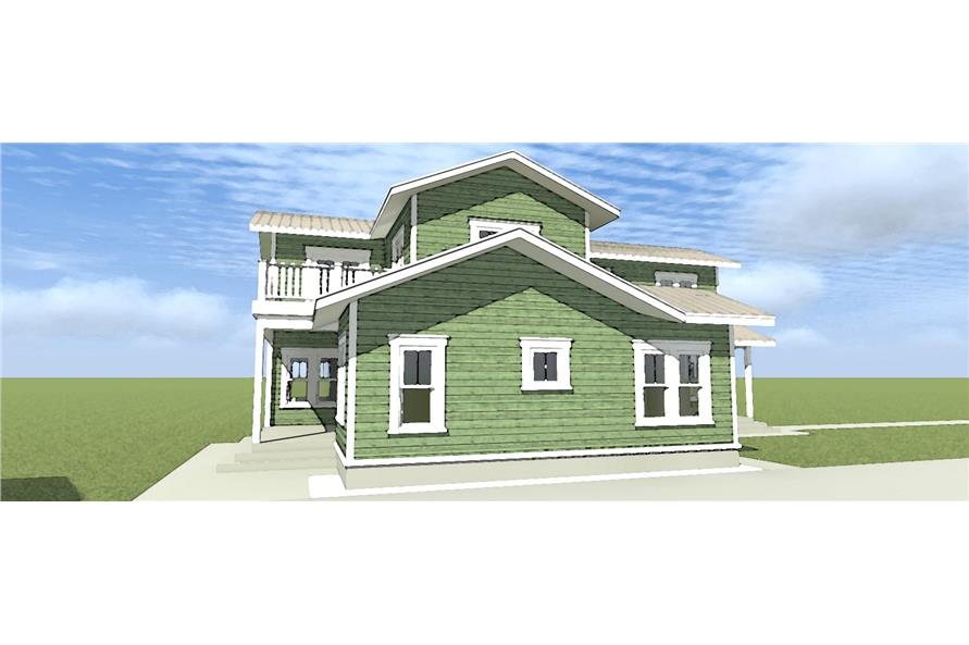 116-1098: Home Plan Left Elevation