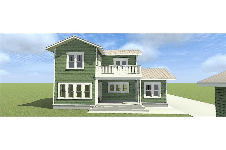 116-1098: Home Plan Rear Elevation