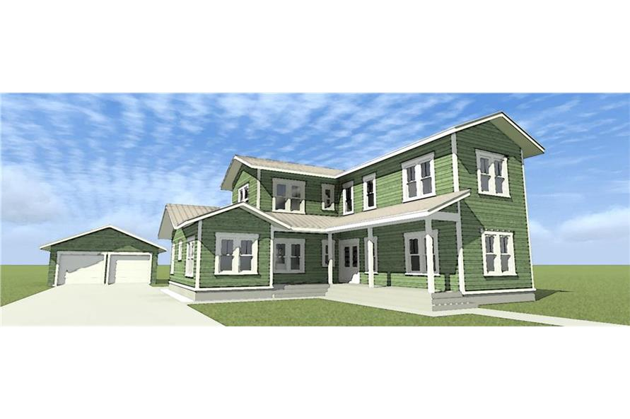 116-1098: Home Plan Rendering