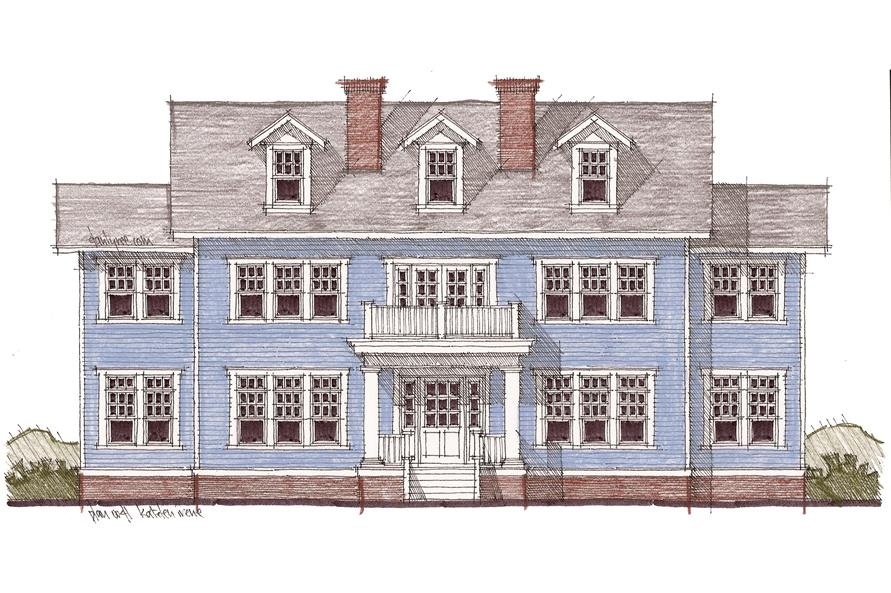 116-1099: Home Plan Front Elevation