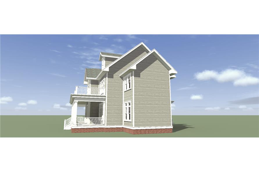 Home Plan Left Elevation of this 4-Bedroom,3347 Sq Ft Plan -116-1099