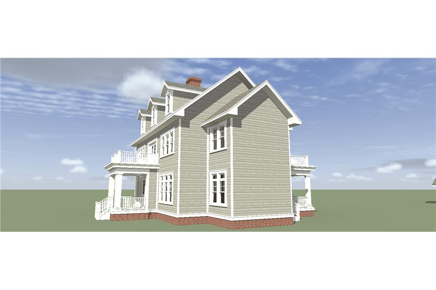 Home Plan Right Elevation of this 4-Bedroom,3347 Sq Ft Plan -116-1099