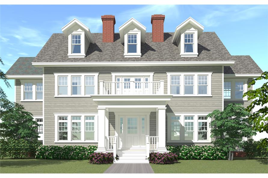 Home Plan Rendering of this 4-Bedroom,3347 Sq Ft Plan -116-1099
