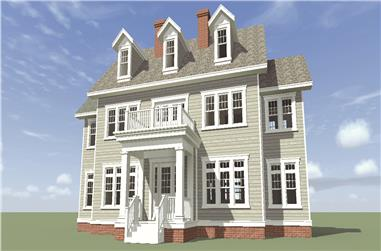 Front elevation of Historic home (ThePlanCollection: House Plan #116-1099)