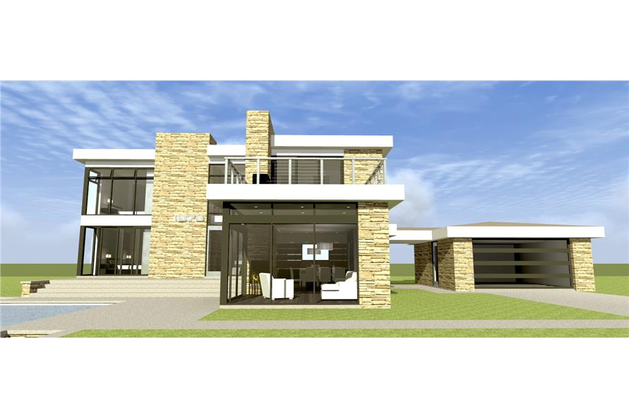 Home Plan Front Elevation of this 3-Bedroom,2269 Sq Ft Plan -116-1100