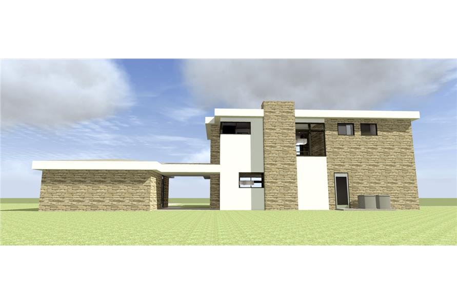116-1100: Home Plan Rear Elevation