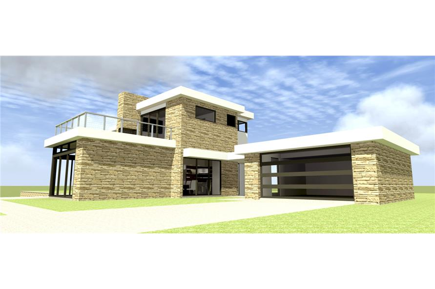 3 Bedrm 2269 Sq Ft Modern House Plan 116 1100