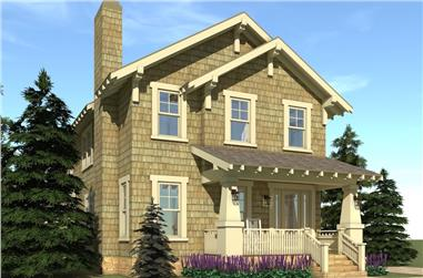 3-Bedroom, 3117 Sq Ft Craftsman Home Plan - 116-1102 - Main Exterior