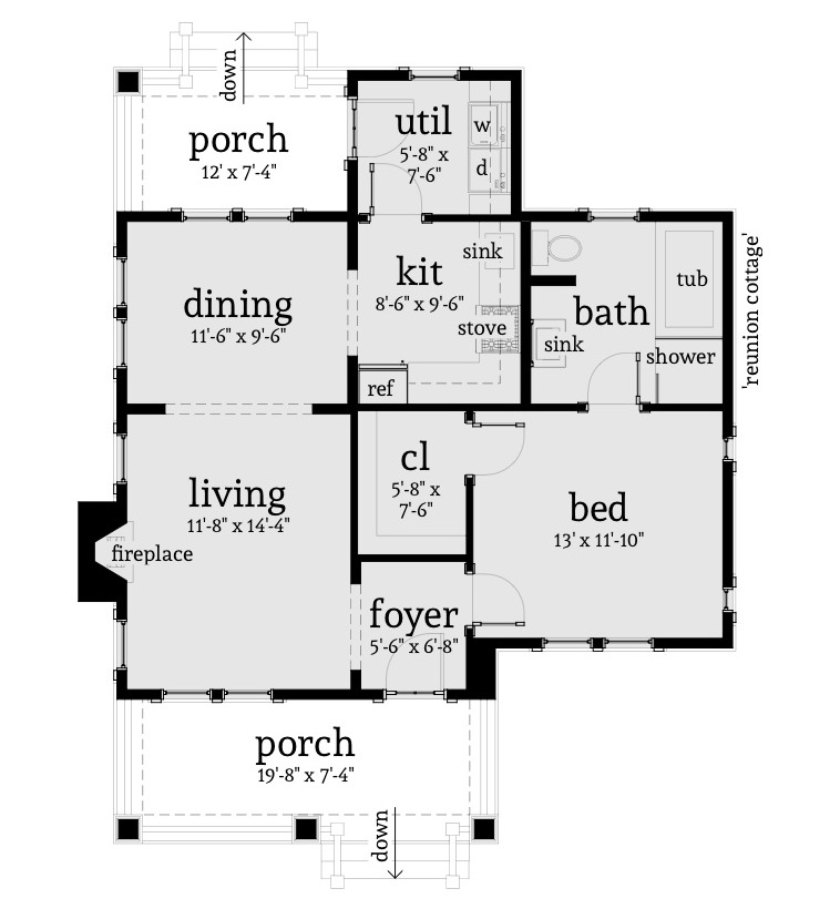 Beachfront House Plan 116 1103 1 Bedrm 841 Sq Ft Home