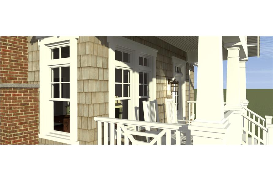 116-1103: Home Plan 3D Image-Porch