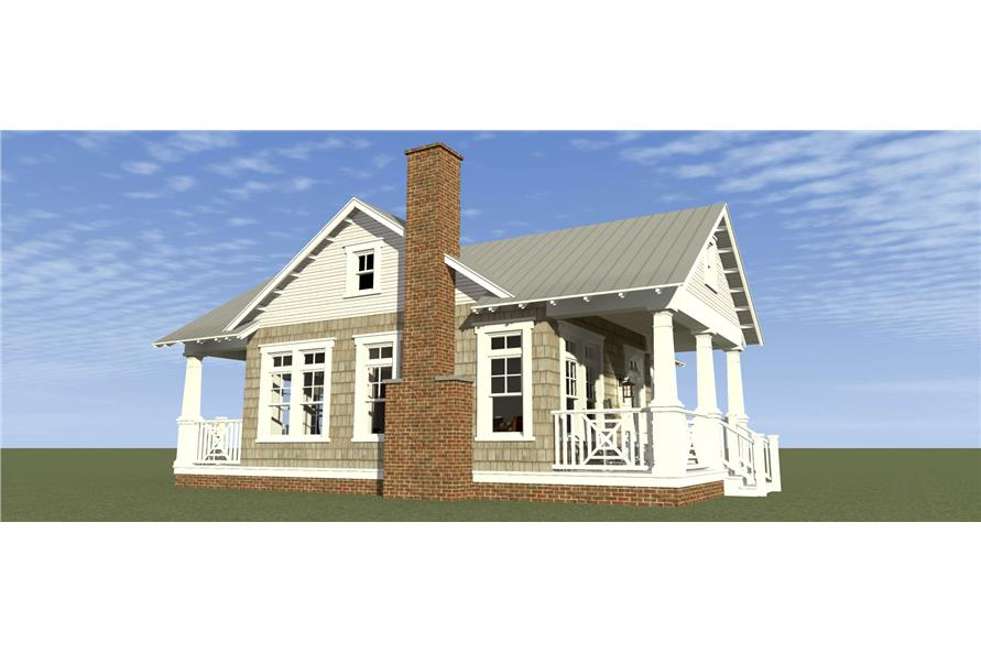 Home Plan Left Elevation of this 1-Bedroom,841 Sq Ft Plan -116-1103
