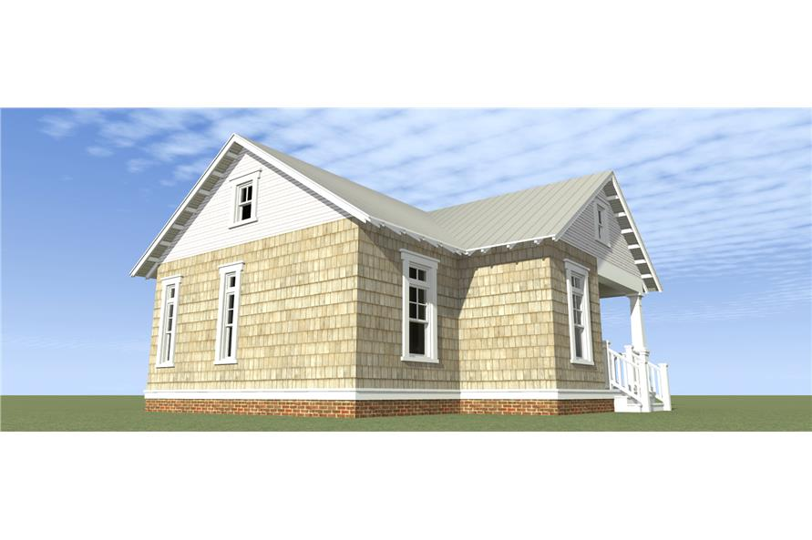 Home Plan Right Elevation of this 1-Bedroom,841 Sq Ft Plan -116-1103