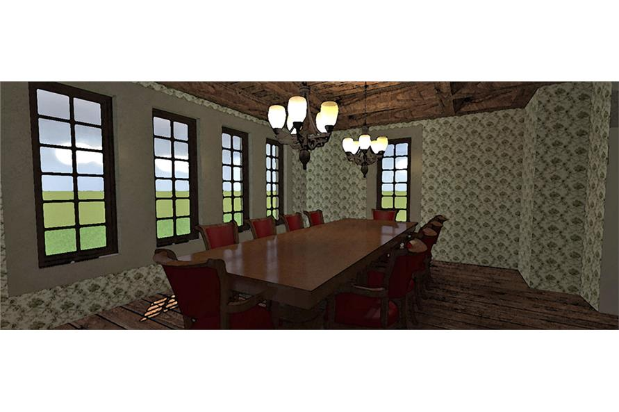 116-1105: Home Plan Rendering-Dining Room