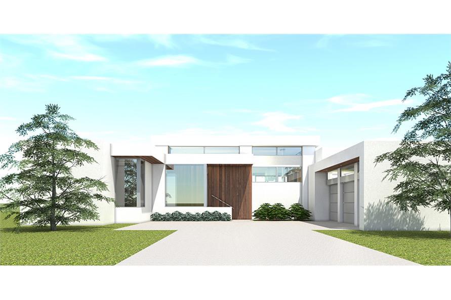 4-Bedroom, 3304 Sq Ft Modern Home Plan - 116-1107 - Main Exterior