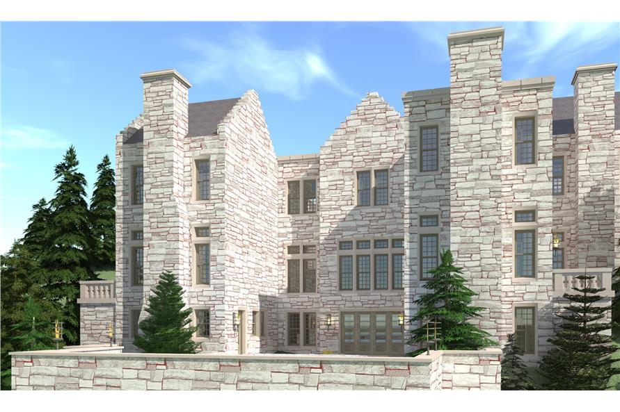 6-Bedroom, 9465 Sq Ft Castle Plan - 116-1108 - Front Exterior