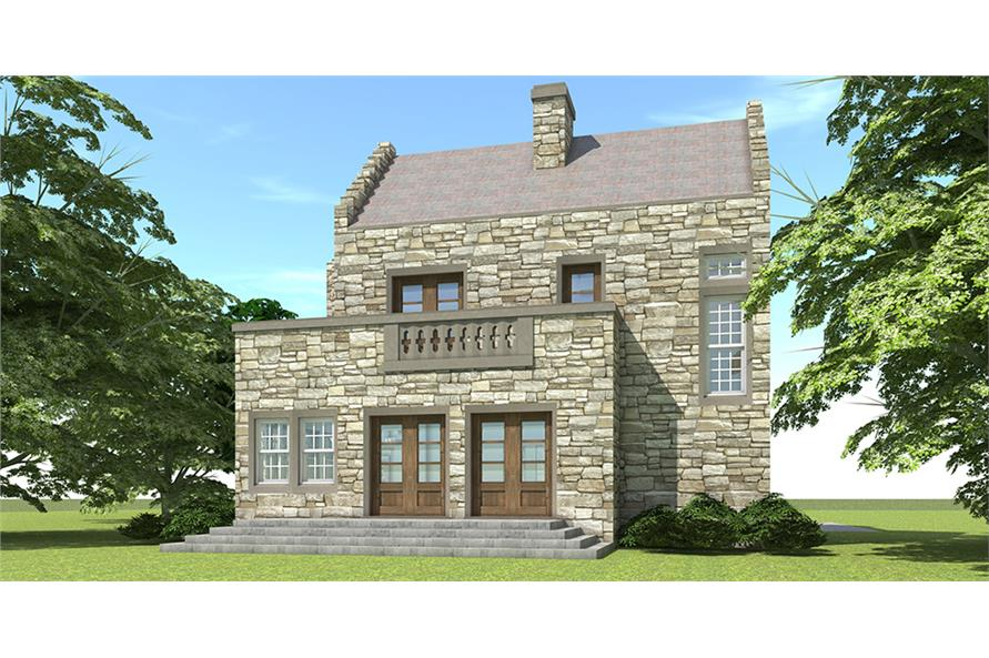 Home Plan Rendering of this 2-Bedroom,1736 Sq Ft Plan -1736