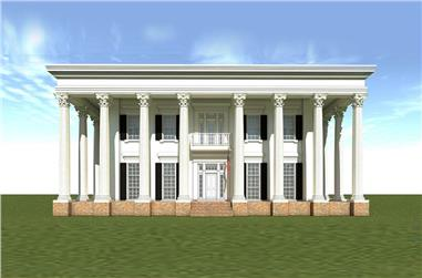 3-Bedroom, 4500 Sq Ft Georgian House Plan - 116-1112 - Front Exterior