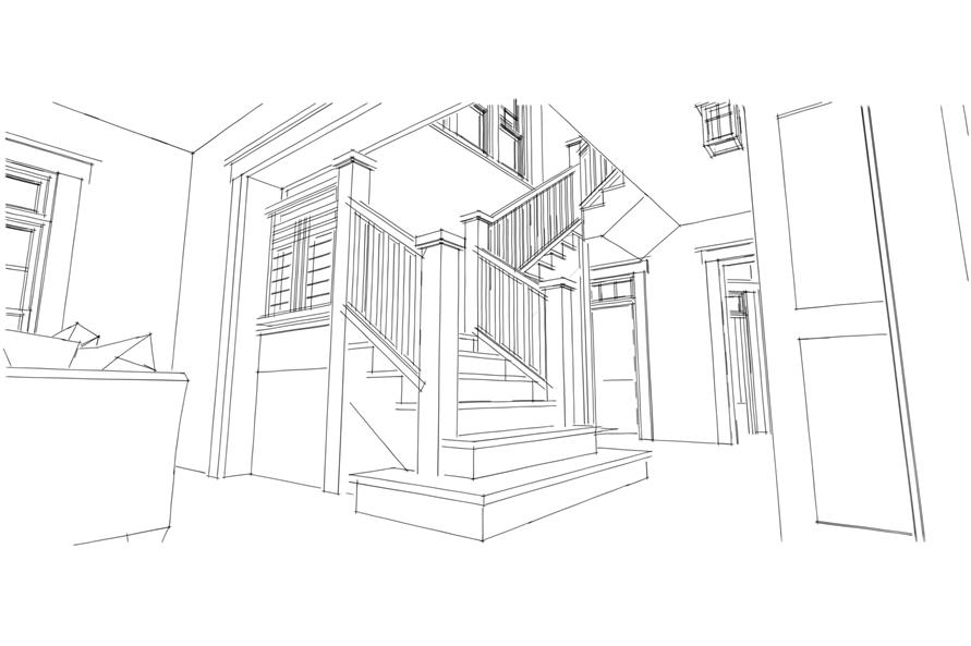 Entry Hall: Staircase of this 4-Bedroom,2845 Sq Ft Plan -2845