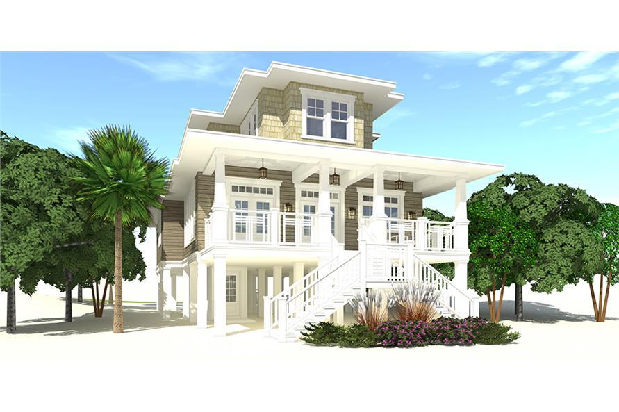 Home Plan Rendering of this 4-Bedroom,2845 Sq Ft Plan -2845