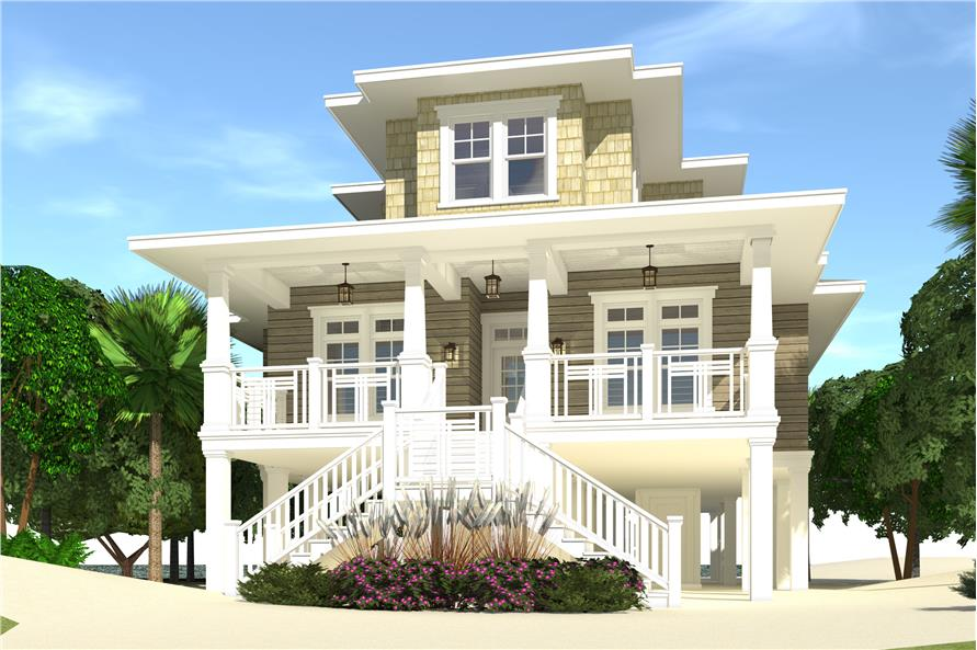 4-Bedroom, 2845 Sq Ft Cottage House Plan - 116-1113 - Front Exterior