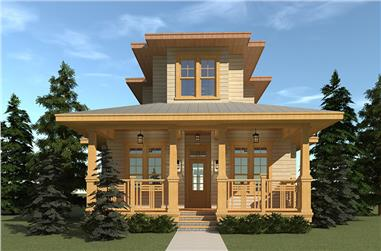 4-Bedroom, 2745 Sq Ft Florida Style Home Plan - 116-1114 - Main Exterior