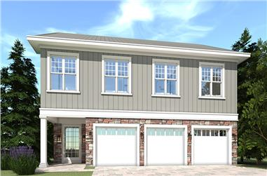 5-Bedroom, 3036 Sq Ft Georgian Home Plan - 116-1115 - Main Exterior