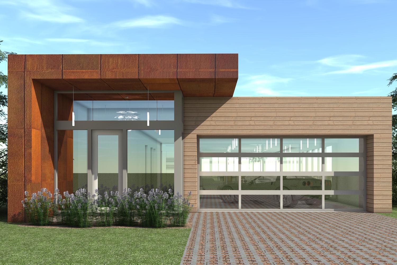 4 Bedrm 2623 Sq Ft Modern House Plan 116 1118