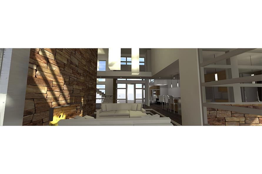 Living Room of this 4-Bedroom,3166 Sq Ft Plan -3166
